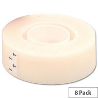 5 Star Matt Tape Roll Invisible Write-on Type-on 19mm x 33m [Pack 8]