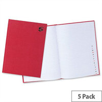 5 Star A4 Indexed Manuscript Book Casebound and 192 Pages Pack 5