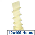 Sticky Notes Concertina Pad of 100 Sheets 76x76mm Yellow Pack 12 5 Star