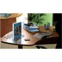 CEP Premier Magazine Rack File Robust Elegant Moulded Polystyrene A4 Black Ice Ref 913586