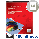 5 Star A4 White Office Inkjet Printer Paper Matt 165gsm (100 Sheets) Ref 917464