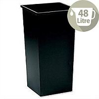 5 Star Office Waste Bin Square Steel Scratch-resistant W325xD325xH630mm 48 Litres Black
