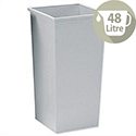 5 Star Office Waste Bin Square Steel Scratch-resistant W325xD325xH630mm 48 Litres Grey