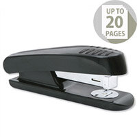 Stapler Half Strip Plastic Capacity 20 Sheets Black-Grey 5 Star