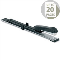 Long Arm Stapler Full Strip 300mm Reach Capacity 20 Sheets Black 5 Star