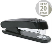 Plastic Stapler Black-Grey Full Strip 20 Sheets 5 Star