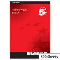 A4 100gsm Vellum Wove Finish Premium Paper 500 Sheets 5 Star