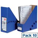 Magazine File Cardboard Blue Pack 10 5 Star