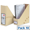 Magazine File Cardboard Sand Pack 10 5 Star