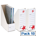 Magazine File Self Locking Oyster White Pack 10 5 Star