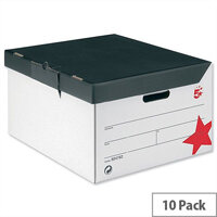 Storage Trunk White and Black 10 Pack 5 Star