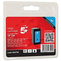 HP 339 Black Compatible Ink Cartridge C8767EE 5 Star