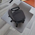 Chair Mat Hard Floor Protection PVC 1143x1346mm 5 Star