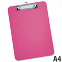 Pink A4 Clipboard Plastic Rounded Corners 5 Star