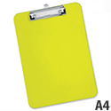 A4 Lime Green Clipboard Plastic Rounded Corners 5 Star