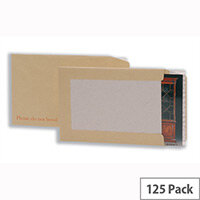 5 Star Office Manilla 240x165mm Envelopes Recycled Board-backed Hot Melt Peel and Seal 120gsm (Pack 125)