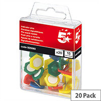Indicator Pins 15mm Head Assorted Pack 20 5 Star