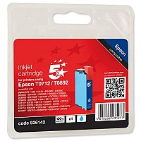 Epson T0712 Compatible Cyan Inkjet Cartridge Cheetah Series 5 Star C13T07124011