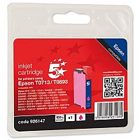 Epson T0713 Compatible Magenta Inkjet Cartridge 5 Star Cheetah Series OB71340/C13T07134011/T071340