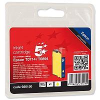 Epson T0714 Compatible Yellow Inkjet Cartridge Cheetah Series 5 Star OB71440/C13T07144010