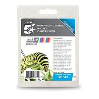 HP 343 Compatible Colour Ink Cartridge Twin Pack CB332EE 5 Star
