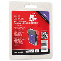 Brother LC-1100BK Compatible Black Ink Cartridge 5 Star LC1100BK
