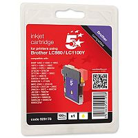 Brother LC-1100Y Compatible Yellow Ink Cartridge 5 Star LC1100Y