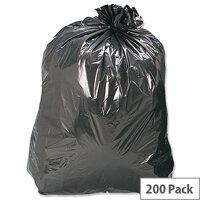 Refuse Sacks Heavy Duty 160 Gauge 110 Litre Capacity Black Box 200
