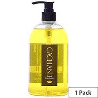 Cachan Liquid Hand Soap Handwash Lemon & Ginger Fragrance 500ml (Pack 1)