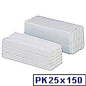 5 Star Hand Paper Towel Z-fold Two-ply 25 Sleeves of 150 [3750 Sheets]
