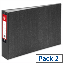 A3 Oblong 70mm Lever Arch File Cloudy Grey 5 Star Pack 2