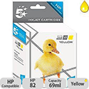 HP 82 Compatible Yellow Ink Cartridge C4913A 5 Star