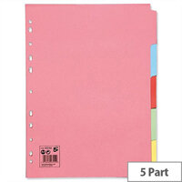 5 Part A4 Subject Dividers Assorted Pack 10 5 Star
