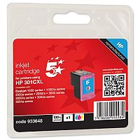 HP 301XL Compatible Black Ink Cartridge CH563EE 5 Star