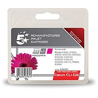 Canon CLI-526 M ( 4542B001 Equivalent ) Magenta Ink Cartridge Compatible/Remanufactured by 5 Star