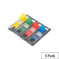 5 Star Index Flag 4 Bright Colours 12.5x50mm 5 Packs of 35 Flags [175 Flags]