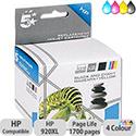 5 Star Compatible Inkjet Cartridges 4 Colour CMYK [HP No. 920XL C2N92AE Alternative] [Pack 4]