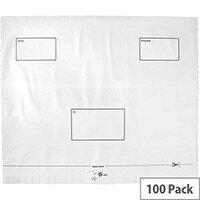 5 Star Elite Envelopes Polythene Opaque 440x330mm Peel & Seal Pack 100 White