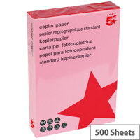 5 Star Medium Salmon A4 Paper Multifunctional Ream-Wrapped 80gsm 500 Sheets