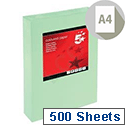 A4 Medium Green Coloured Paper Multifunctional Ream-Wrapped 80gsm 500 Sheets 5 Star