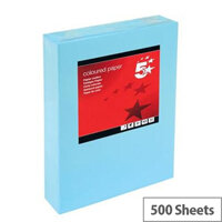 5 Star Medium Blue A4 Paper Multifunctional Ream-Wrapped 80gsm 500 Sheets