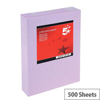 5 Star Medium Violet A4 Paper Multifunctional Ream-Wrapped 80gsm 500 Sheets