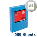Deep Blue A4 Coloured Printer Paper Multifunctional Ream-Wrapped 80gsm 500 Sheets 5 Star