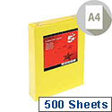 Deep Yellow A4 Coloured Printer Paper Multifunctional Ream-Wrapped 80gsm 500 Sheets 5 Star