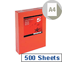 Deep Red A4 Coloured Printer Paper Multifunctional Ream-Wrapped 80gsm 500 Sheets 5 Star