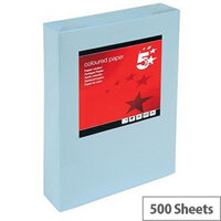 A3 Light Blue Coloured Printer Paper Multifunctional Ream-Wrapped 80gsm 500 Sheets 5 Star