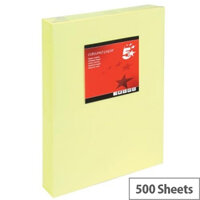 5 Star Light Yellow A3 Paper Ream-Wrapped 80gsm 500 Sheets