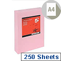 A4 Light Pink Coloured Card Multifunctional 160gsm  5 Star (Pack of 250 Sheets)