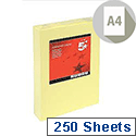 A4 Light Yellow Coloured Card Multifunctional 160gsm 5 Star (Pack of 250 Sheets)