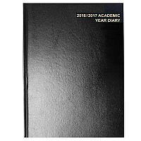 5 Star Office 2016-2017 Academic Year Diary A4 Day to a Page Black